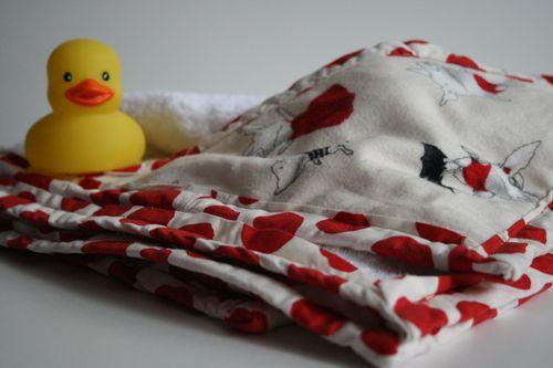Hooded Olivia the Pig Towel